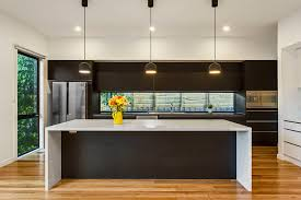 kitchen with island bench modern kitchen with island bench feature lighting and glass