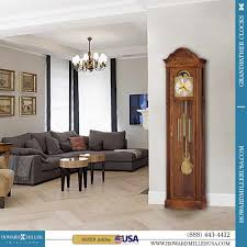 Ridgeway Grandmother Clock Howard Miller Floor Grandfather Clock Quartz Cherry 2552 Harper