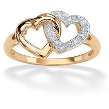 golden heart rings images Most beautiful gold ring designs for girls jpg