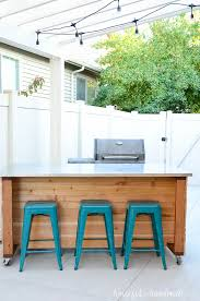 portable outdoor kitchen island outdoor kitchen island build plans a houseful of handmade