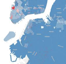 Downtown Manhattan Map See Who Didn U0027t Vote For De Blasio Maps Huffpost