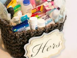 wedding baskets what to put in a wedding bathroom basket
