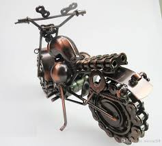 iron gifts large size handmade iron bronze color retro style metal harley