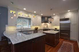 granite countertop white cabinet faux tin backsplash tiles