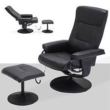 Recliner Chair With Ottoman Leather Swivel Recliner Furniture Ebay
