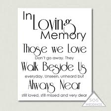 in loving memory wedding sign remembrance sign in loving memory wedding sign printable