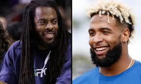 odell beckham hairstyle odell beckham jr and richard sherman share wonderful twitter