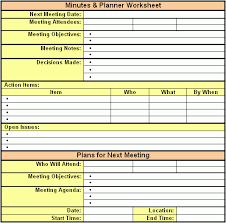 Exle Of Meeting Minutes Template meeting notes template excel pertamini co