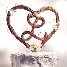 l cake topper letter l rustic twig monogram heart wedding cake topper 2485654