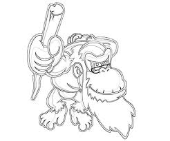 donkey kong country returns free coloring pages art coloring
