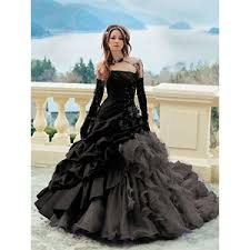 black wedding dress black wedding gowns polyvore