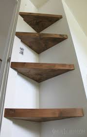 Wooden Shelves Diy by Best 25 Corner Shelves Ideas On Pinterest Spare Bedroom Ideas