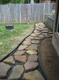 Backyard Stone Ideas Diy Stone Walkway In The Garden Stone Walkway Walkways And Stone