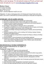 Sample Resume With Work Experience by Painter Resumes Sample Resume Professional Work Experience