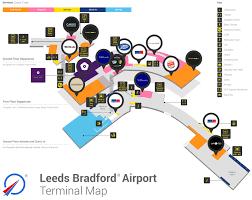 lba terminal u0026 amenities map leeds bradford airport