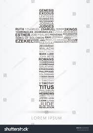 cross designed using bible words genesis stock vector 362684948