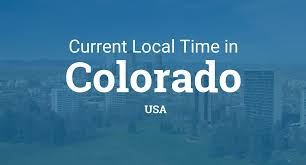 Time Zones In Usa Map by Current Local Time In Colorado United States