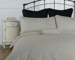Duvet Covers Brown And Blue Ticking Stripe Duvet Cover Navy Blue Black Grey Brown