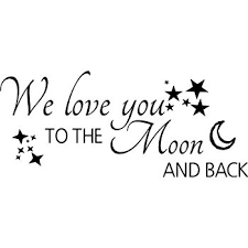 amazon com i you to the moon and back wall decal sticker