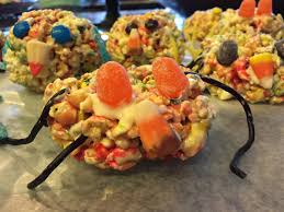 halloween party treats spooky spider popcorn balls