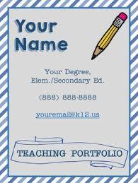 editable teaching portfolio template blue stripes by mrs