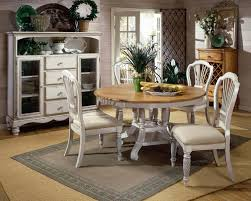 other white country side chair white rounded dining table gray