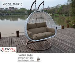 garden furniture hanging chair double hanging swing chair with two