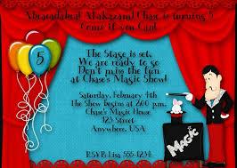magic birthday party invitations wording u2013 bagvania free printable