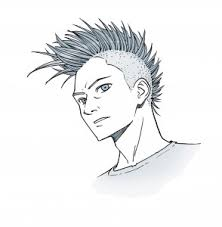 spiky anime hairstyles manga monday how to draw hair with mark crilley impact books
