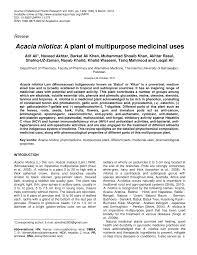 acacia nilotica a plant of multipurpose medicinal uses pdf