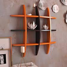 home decor globe shape floating diy wall shelves rack by