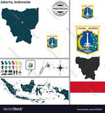 Map Of Jakarta Map Of Jakarta Royalty Free Vector Image Vectorstock