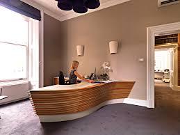 Oak Reception Desk Bespoke Curved Reception Desk From Solid Oak And Corian Top