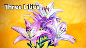how to paint three pink lilies in watercolor u2014 online art lessons