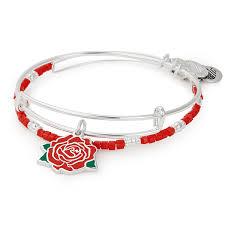 rose bracelet charm images Red rose set of 2 jpg