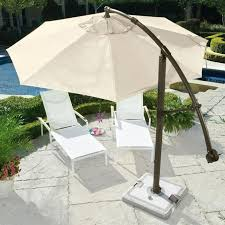 Cantilever Patio Umbrella With Base Cantilever Umbrella Brookstone Creates A Large Area Of Shade And