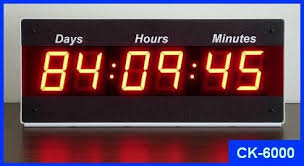 event countdown clock days hours minutes electronicsusa