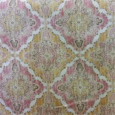 Geometric Drapery Fabric Girly Blush Washed Pink Ikat Geometric Cotton Drapery Fabric 55380