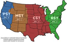 Us Timezone Map Random Tids U0026 Bits Wed 7 13 16 Waxx