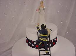 fireman wedding cake toppers personalized custom fireman groom with