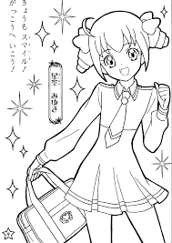 smile precure coloring pages eson me
