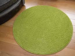 Bright Green Rug Cargo Circular Green Shaggy Pile Rug Available In 5 Sizes 80cm