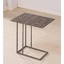 Weathered Wood Coffee Table Amazon Com Coaster Company Weathered Wood And Metal Snack Table