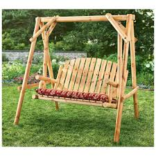 free standing front porch swing