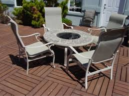 Outdoor Furniture With Fire Pit Table by Hampton Bay Fire Pit U0026 4 Rocking Patio Chairs