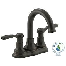 Bathroom Faucet Oil Rubbed Bronze Kohler Worth 4 In Centerset 2 Handle Bathroom Faucet In Oil