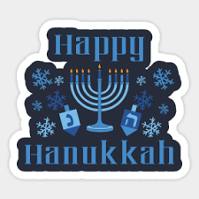 hanukkah stickers dreidel stickers teepublic