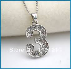 aliexpress vintage necklace images Number 3 pendant vintage jewelry necklace antique silver plated 50 jpg