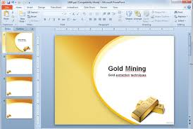Gold Mine Extraction Ppt Template Slide Design New Free Powerpoint Ppt Powerpoint