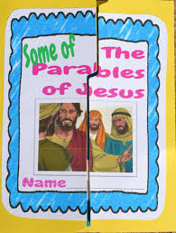 parables of jesus lapbook includes review activities for many